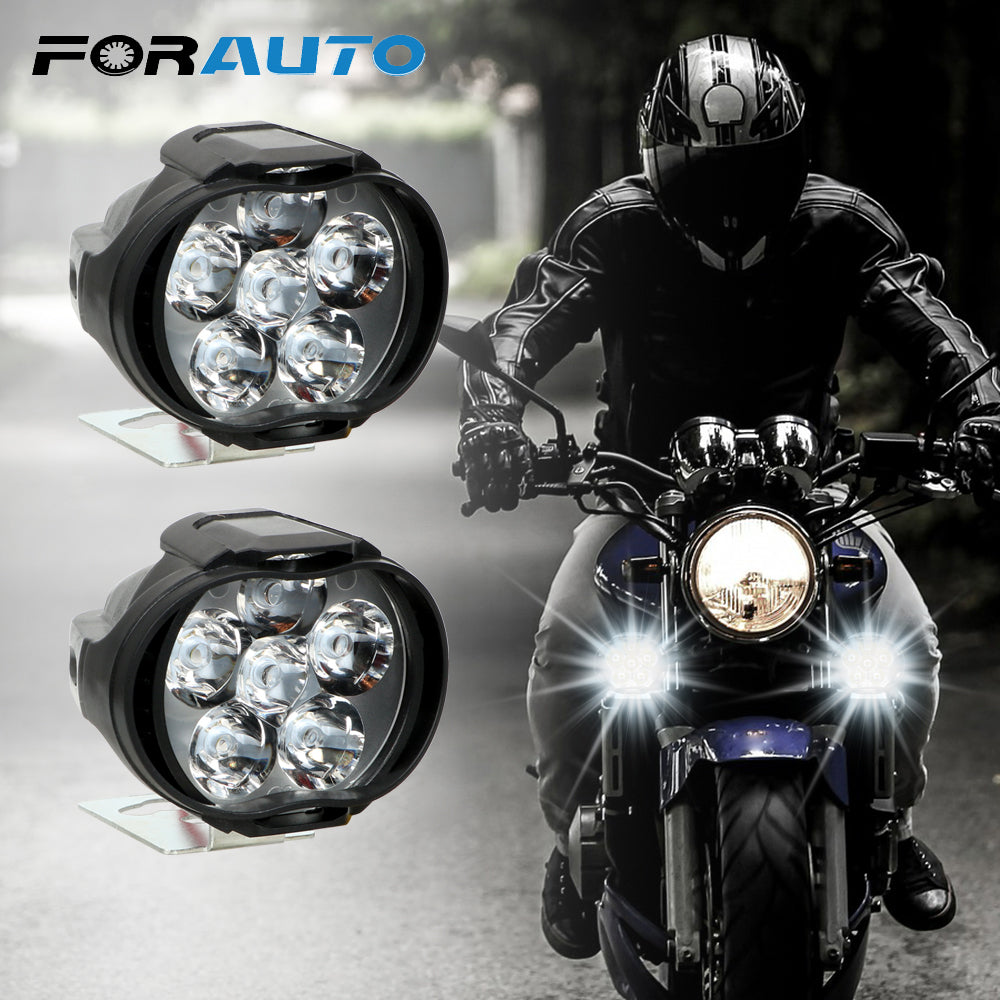 1 Pair Motorcycles Headlight 6500k Super Bright LED Spot Light - i-Deals Store