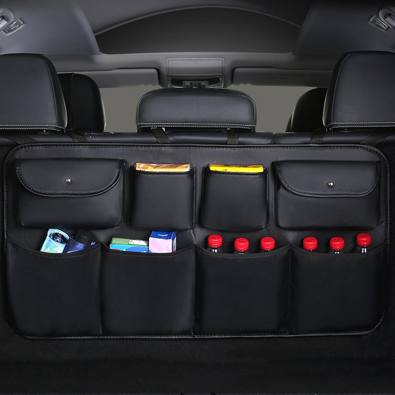 New PU leather Car Rear Seat Back Storage Bag - i-Deals Store