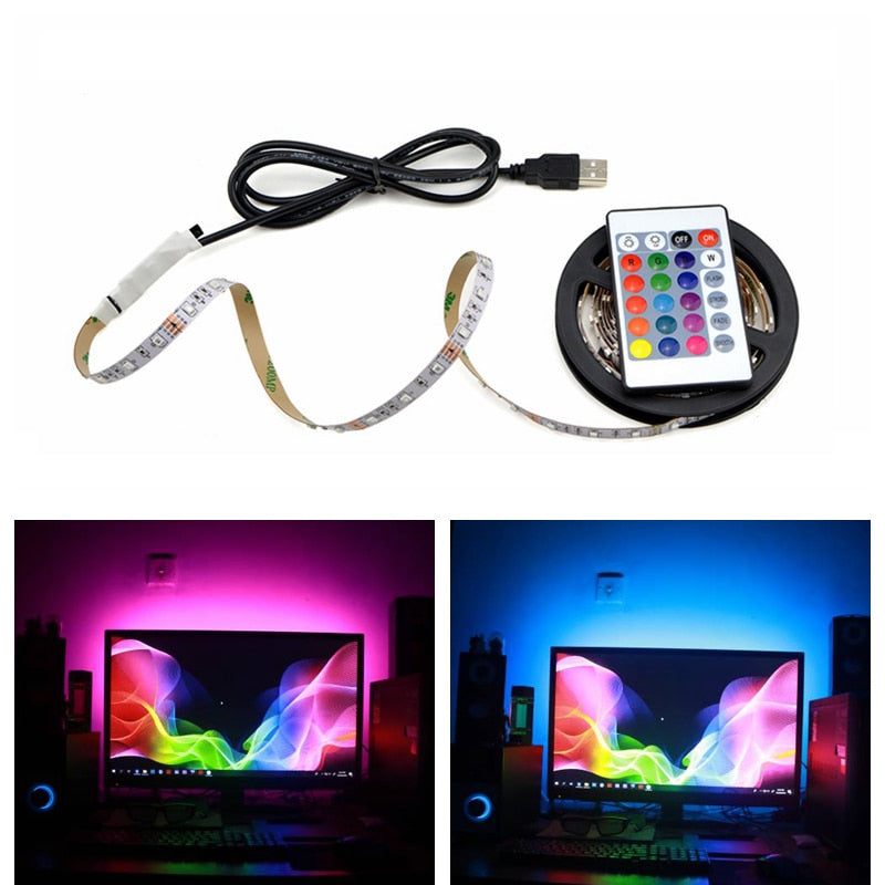Colorful USB RGB LED strip lights - i-Deals Store