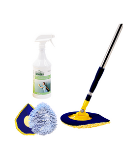 5 Minute CleanWalls Bundle Buy (CleanWalls Tool, Spray, Replacement Mitt, & Baseboard Duster)