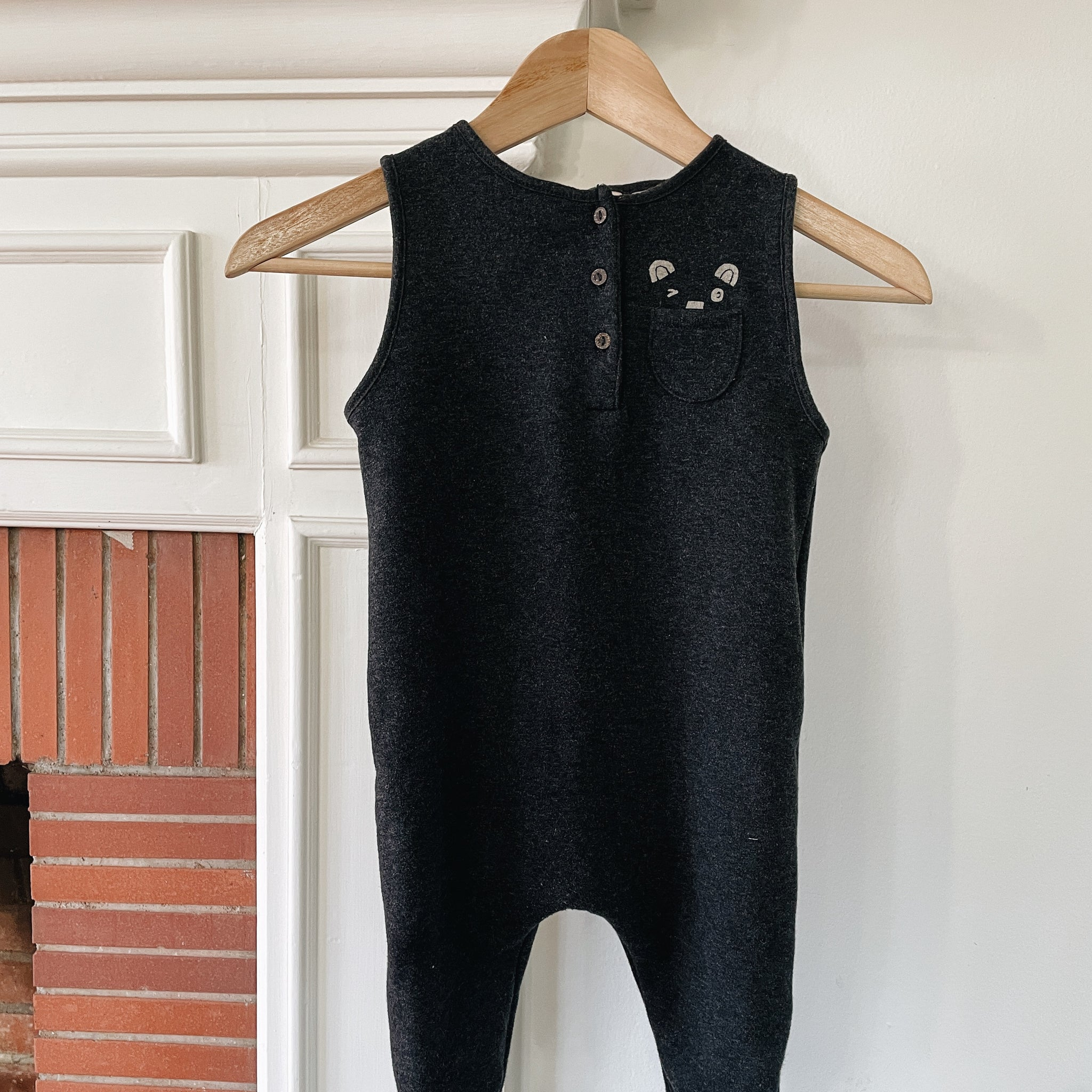 Black Romper Size 2/3 years