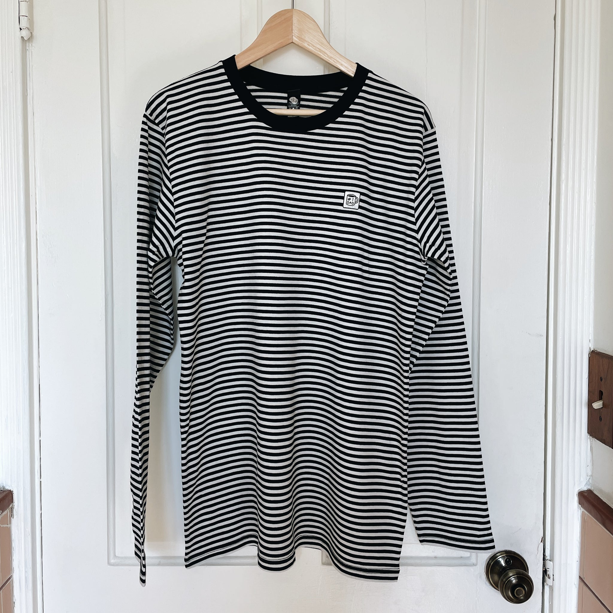 Striped #1 Dad Long Sleeve