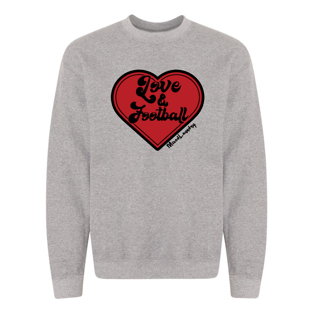 Love & Football | Adult Crewneck Sweatshirt