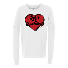 Load image into Gallery viewer, Love & Basketball | Youth Long Sleeve Tee