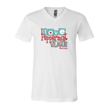Load image into Gallery viewer, I Love Peppermint Season | Unisex V-Neck Tee
