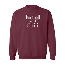 Load image into Gallery viewer, Football and Chili | Unisex Crewneck Sweatshirt