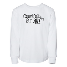 Load image into Gallery viewer, Custom Coach's Kid Est.  | Toddler Long Sleeve Tee
