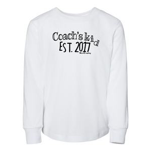 Custom Coach's Kid Est.  | Toddler Long Sleeve Tee