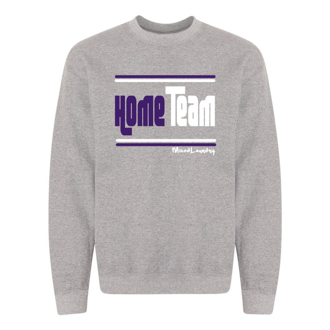 Home/ Away Team (Purple & White ) | Crewneck Sweatshirt