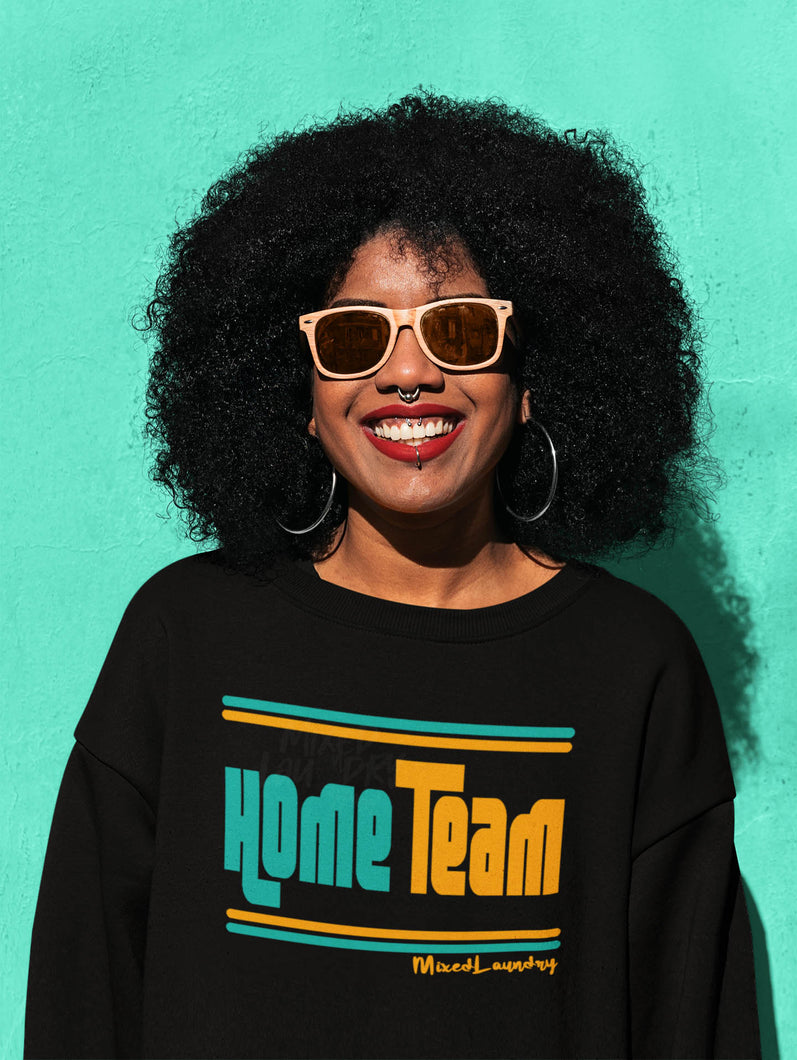 Home/ Away Team (Teal & Gold) | Crewneck Sweatshirt