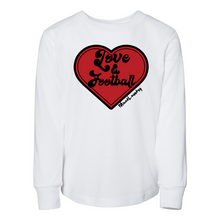 Load image into Gallery viewer, Love & Football | Toddler Long Sleeve Tee