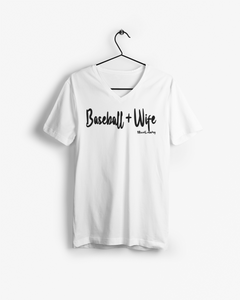 Baseball + Wife | Unisex V-Neck Tee