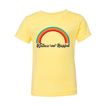 Load image into Gallery viewer, Kindness and Baseball Rainbow | Toddler Tee