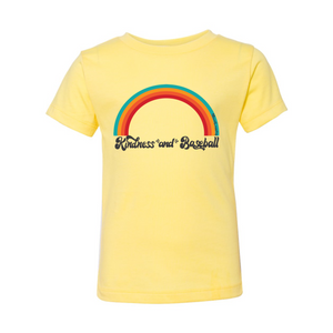 Kindness and Baseball Rainbow | Toddler Tee