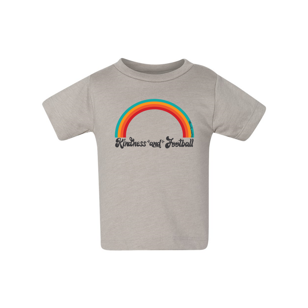Kindness and Football Rainbow | Baby Tee