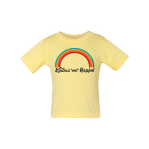 Kindness and Baseball Rainbow | Baby Tee