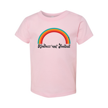 Load image into Gallery viewer, Kindness and Football Rainbow | Toddler Tee