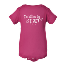 Load image into Gallery viewer, Custom Coach's Kid Est. | Infant Baby Bodysuit