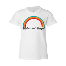 Load image into Gallery viewer, Kindness and Baseball Rainbow | Youth Tee