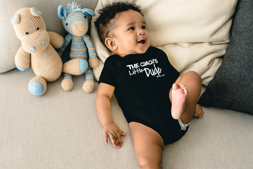 The Coach's Little Dude | Infant Baby Rib Bodysuit