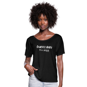 Custom Coach's Wife Est | Women's Flowy Tee