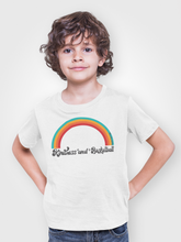 Load image into Gallery viewer, Kindness and Basketball Rainbow | Youth Unisex Tee