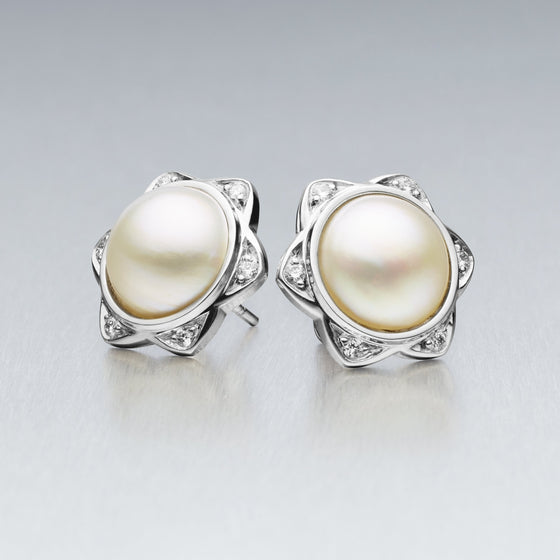 'Star' Mabe Pearl Earrings