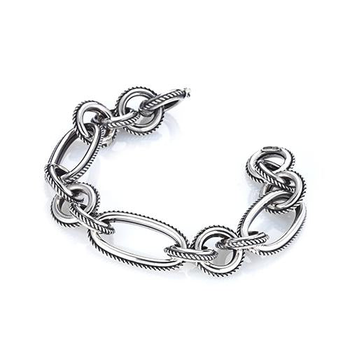 'Marcello' Rope Edge Link Bracelet