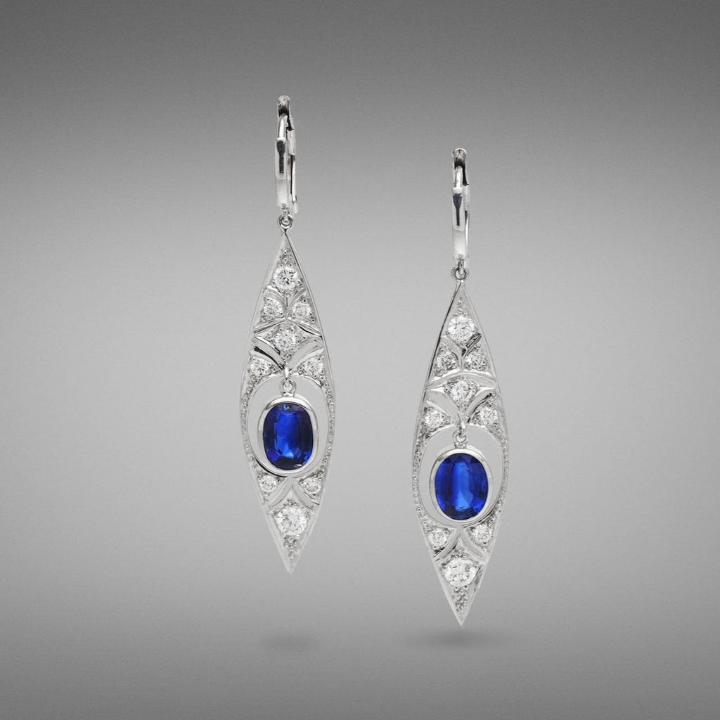 'Moulin Rouge' Kyanite and Diamond Earrings