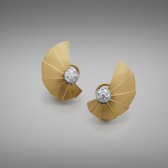'Apus Fan' Diamond Earrings