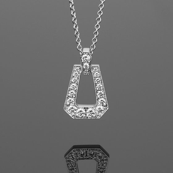 'Russe' Diamond Pendant in 18ct White Gold