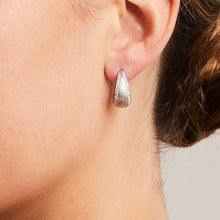 'Bundova' Diamond Clip Earrings in White Gold