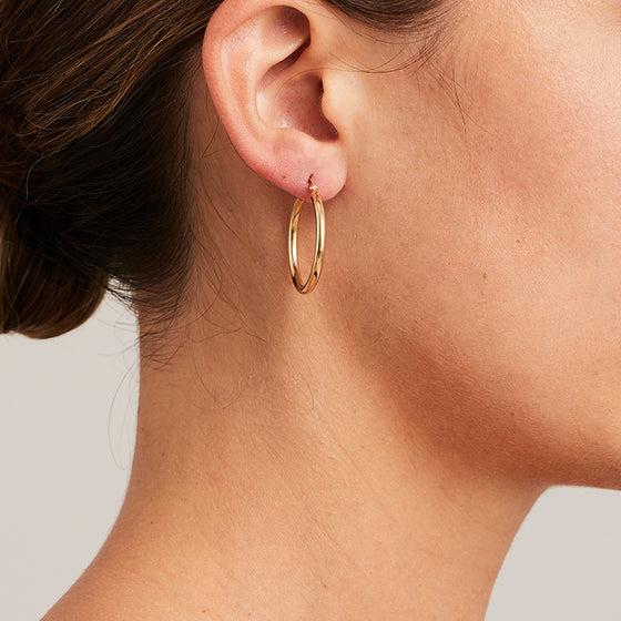 'Hoops' in 18ct Yellow & Rose Gold