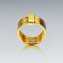 Our 'Bundova' ribbed fine dress ring is available to order in 18ct and 9ct (rose, yellow or white gold). A perfect right hand ring to treasure wearing everyday.