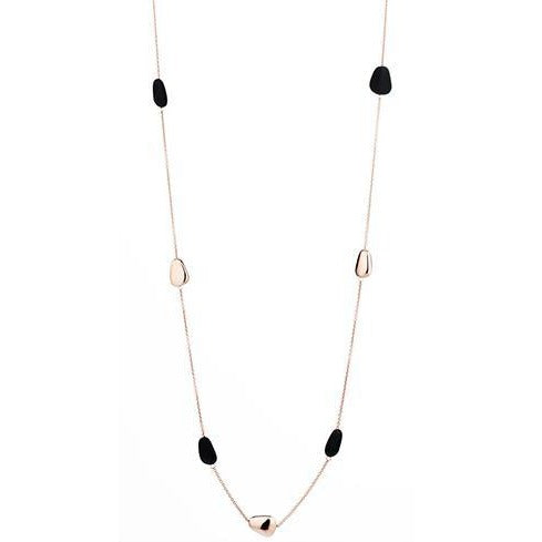 'Marcello' Long Chain Two-Tone Wedge Necklace