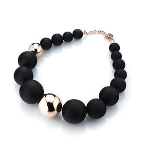 'Marcello' Two-Tone Graduated Ball Necklace