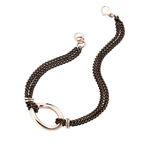 'Marcello' Brown Curb Chain Necklace