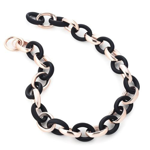 'Marcello' Two-Tone Oval Link Necklace