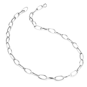 A super elegant long chain necklace that will instantly elevate your look. Timeless and classy, this necklace can be worn layered or on its own. Made in sterling silver with silver or gold finish.