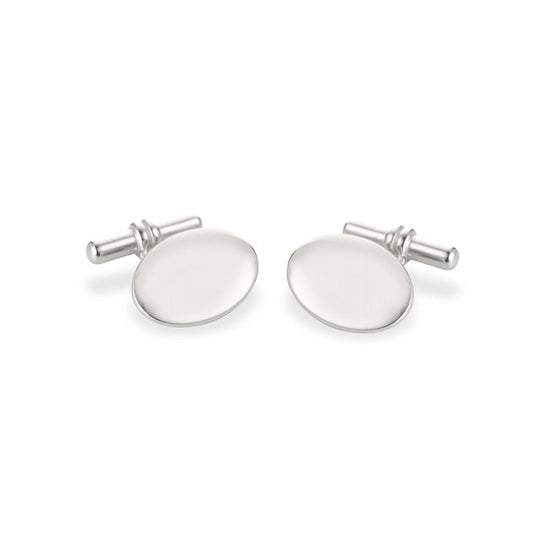 Stylish and Versatile Chain Link Cufflinks set in Silver.