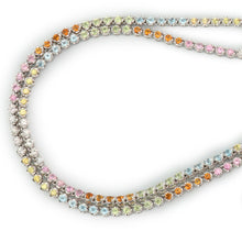 'Tennis' Necklace in 18ct White Gold