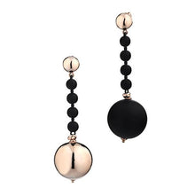 'Marcello' Two-Tone Ball Drop Earrings'