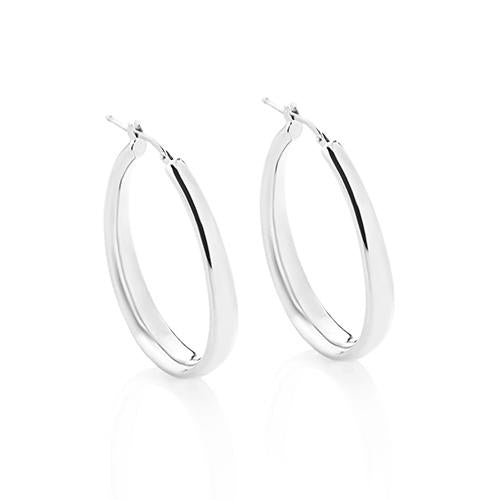 'Marcello' Medium Oval Hoops