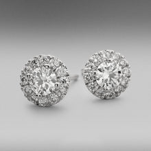 Valentin Diamond Earrings in 18ct White Gold