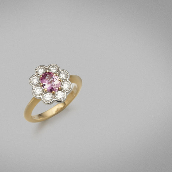 'Tanara' Spinel and Diamond Ring