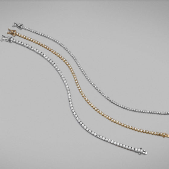 'Tennis' Bracelet with Diamonds in 18ct White Gold