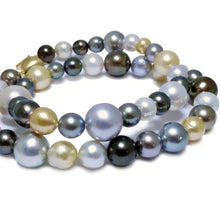 Multi 'Strand' of South Sea & Tahitian Baroque Pearls