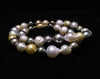 Multi 'Strand' of Baroque South Sea & Tahitian Cultured Pearls 18ct Yellow Gold Clasp