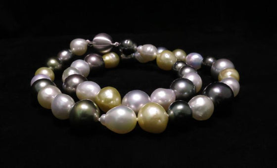 Multi 'Strand' of South Sea & Tahitian Pearls with 18ct White Gold Clasp