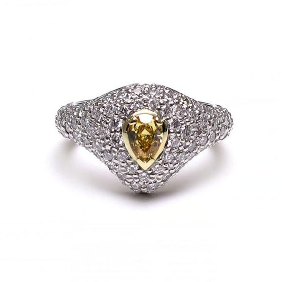 A BUNDA 'Bomb' diamond ring made in platinum and 18ct yellow gold